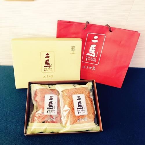 台灣嘉義縣伴手禮推薦-雙響砲禮盒(蜜汁肉干、原味肉鬆)